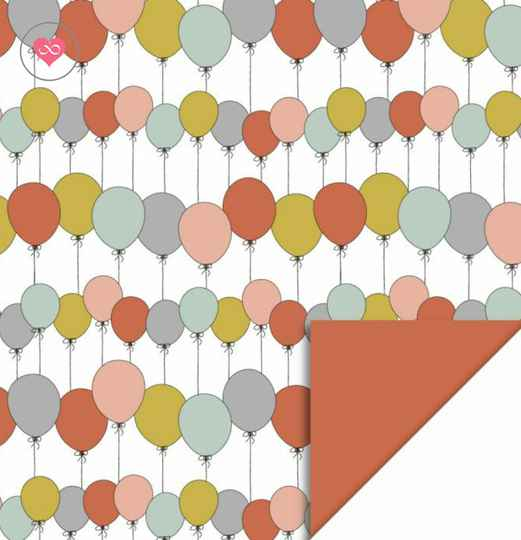 Cadeaupapier | Party Balloons | Bright | House of Products | Dubbelzijdig