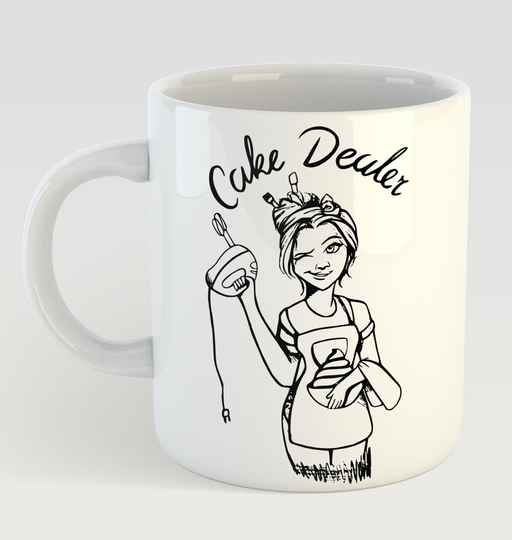 Thee en Koffie Mok Zwart Cake Dealer Collecion