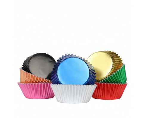 CUPCAKE CUPS PME METALLIC MIX 100 STUKS
