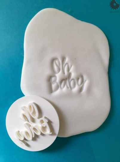 """""""OH BABY"""" STEMPEL 3D"""