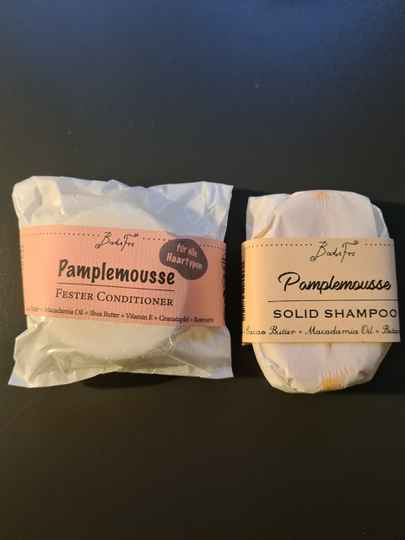Pamplemousse Festes Shampoo + Conditioner im Set - antioxidativ