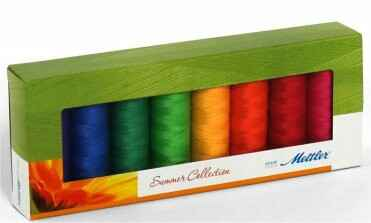 Set zomerkleuren Amann Mettler silk finished cotton 50