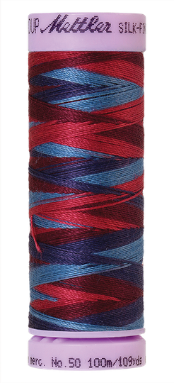 Silk finished cotton multi 9816
