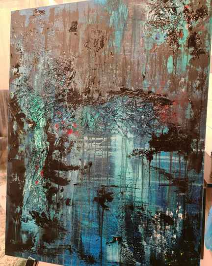 Waterkant - Abstract 60 x 80 cm Canvas