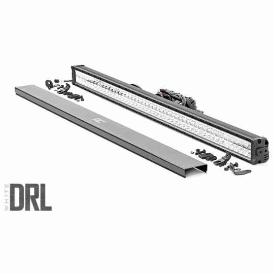 """Dual LED lights 50"""" cool white DRL Rough Country Chrome Series"""