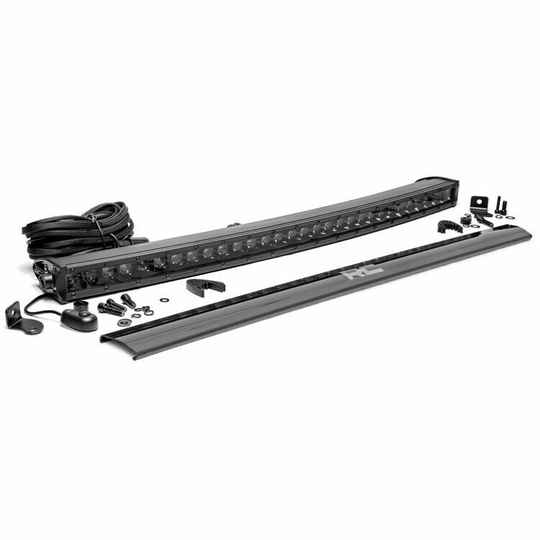 """LED light bar 30"""" curved Rough Country Black Series"""