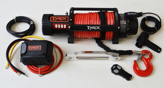 Tyrex 9500LBS Black Series 12V