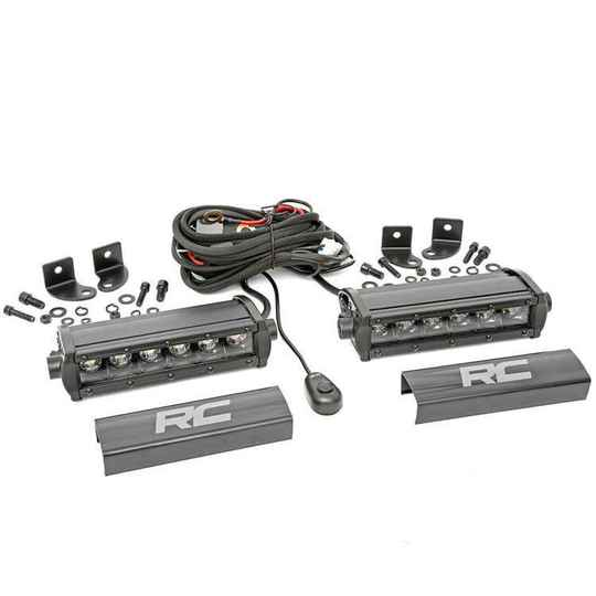"""Two Cree LED light bars 6"""" Black Series Rough Country"""
