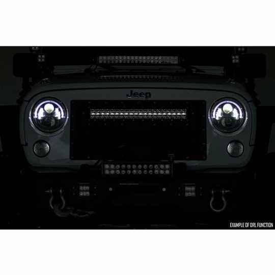 """LED light bar 30"""" curved Amber DRL Rough Country Black Series"""