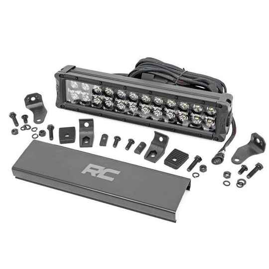 30cm Cree LED Light Bar Dual Row Black Series with Cool White DRL Rough Country