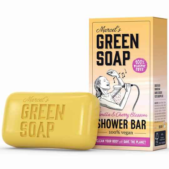 Marcel's Green Soap Shower Bar Vanille & Kersenbloesem