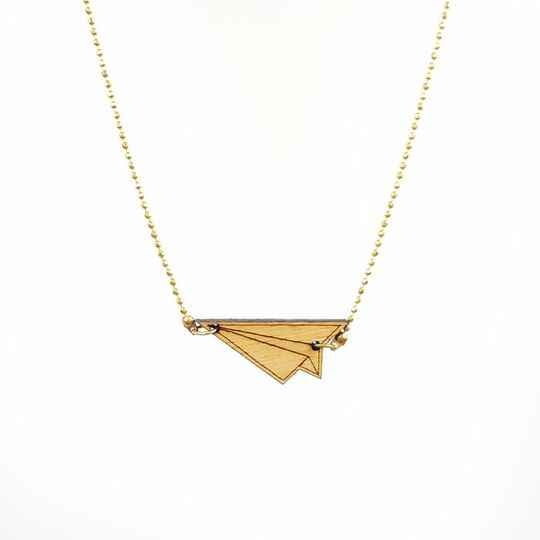 All Things We Like Houten Origami Vliegtuig Ketting