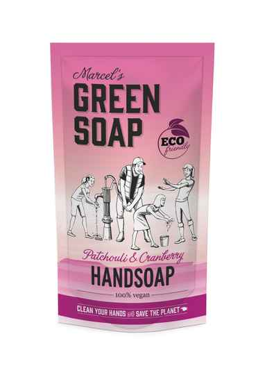 Marcel's Green Soap Handzeep Navul Stazak Patchouli & Cranberry 500ml