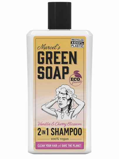 Marcel's Green Soap 2 in 1 Shampoo Vanille & Kersenbloesem (500ML)