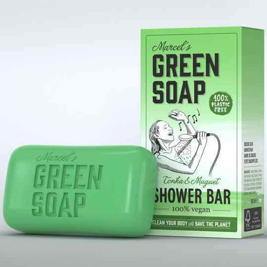 Marcel's Green Soap Shower Bar Tonka & Muguet