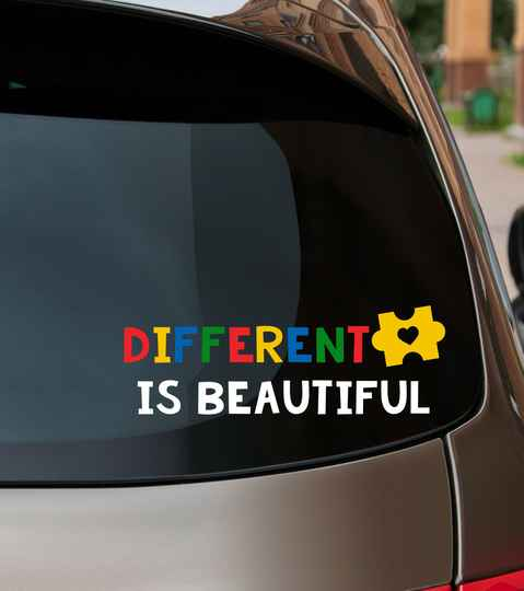 Autosticker - Different is beautiful