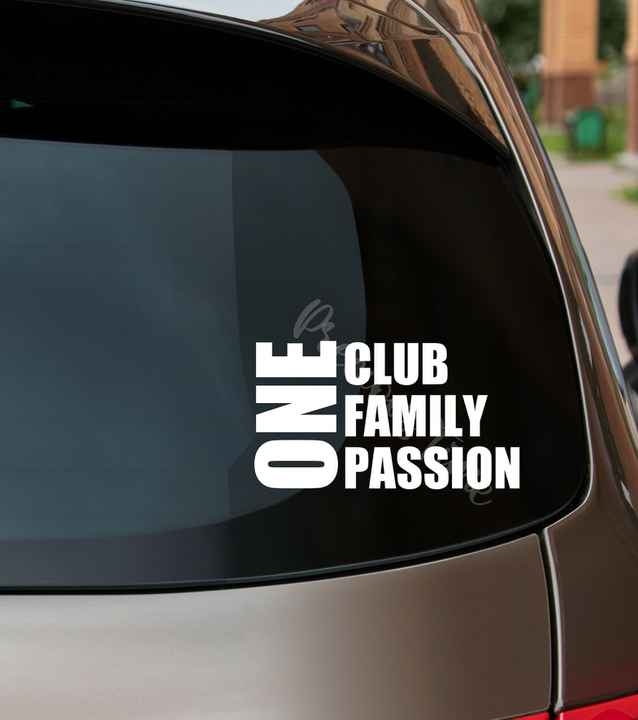 Autosticker - FCB Club Brugge - One Club / One Family / One Passion