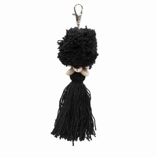 The Pompon Keychain - Black