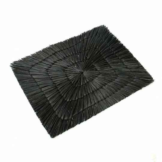 The Alang Alang Rectangular Placemat - Black