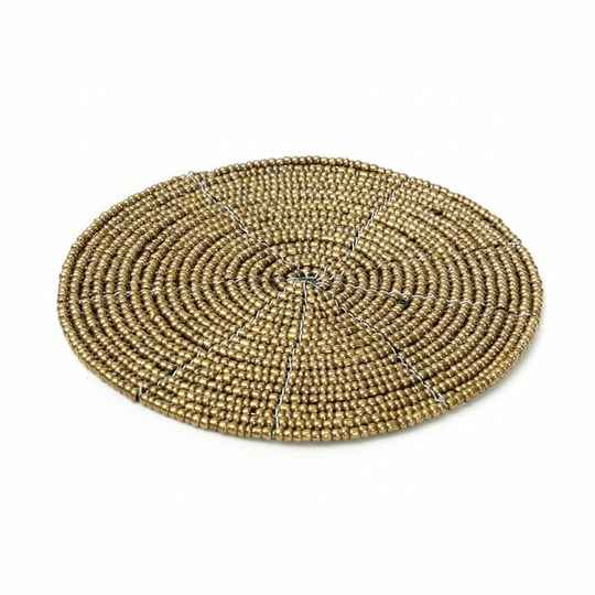 The Beaded Coaster - Gold