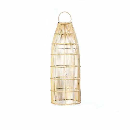 The Rattan Fish Trap Pendant - Natural - M