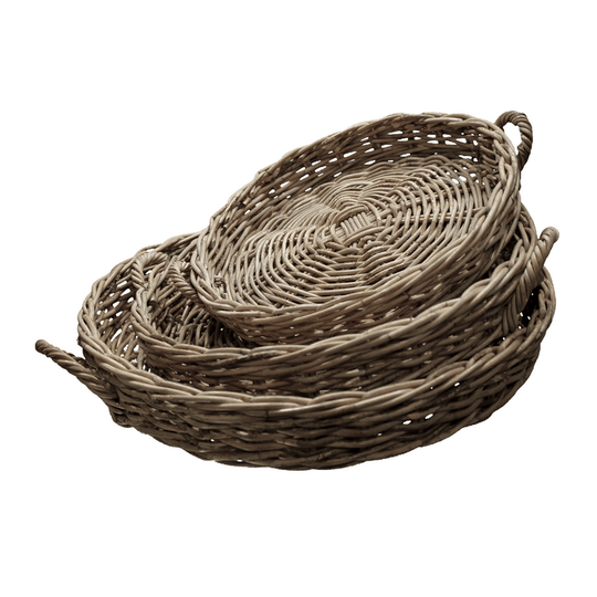 Mira round tray with handle S/3
