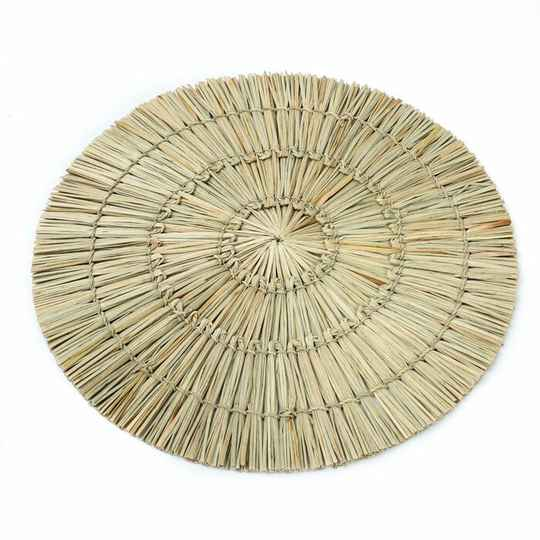 The Alang Alang Round Placemat - Natural