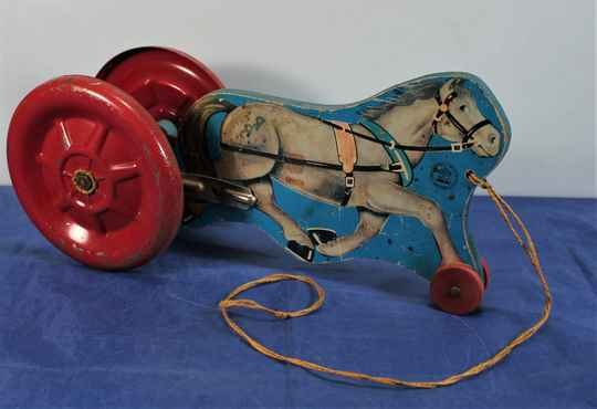 Hill Toys & Bells Pull Toy-Horse & Bell Carriage