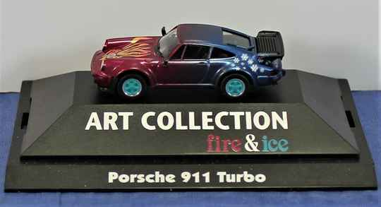 Herpa Art Collection fire & ice 1/87 H0 045094 Porche 911 Turbo.