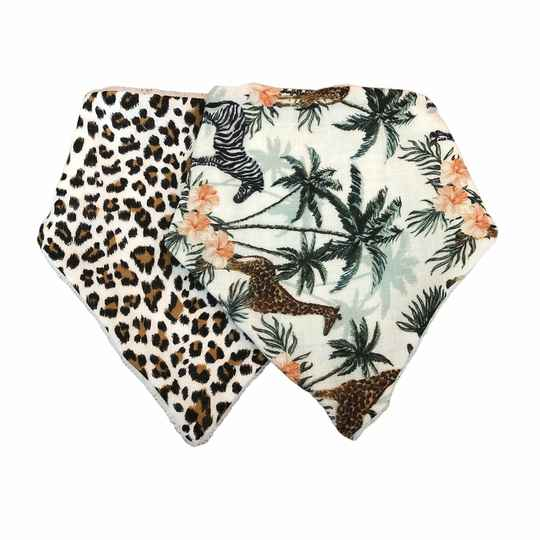 Bandana slabbetjes - jungle mixed set