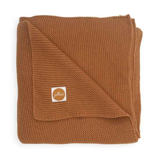 Basic Knit deken -  Caramel