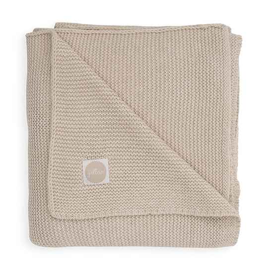 Basic Knit deken -  Nougat