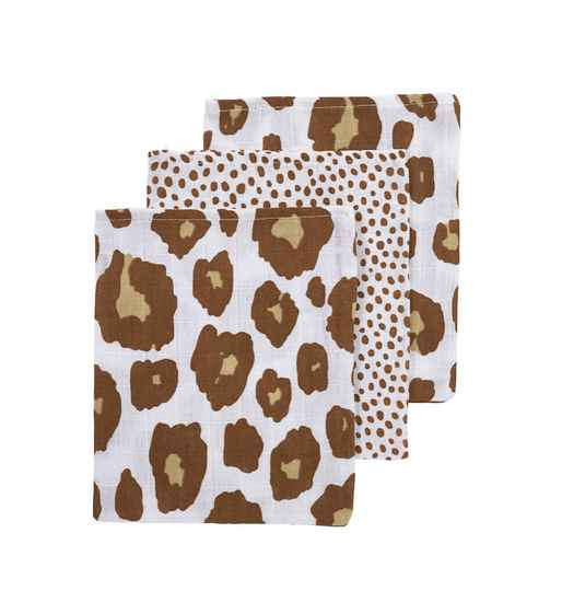 Washandjes 3-pack Leopard-cheetah