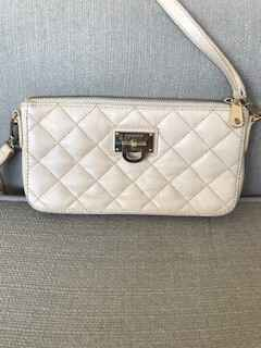 Cream Quilted DKNY Bag