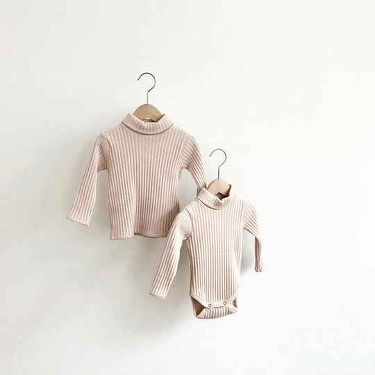 Rib Turtleneck Romper