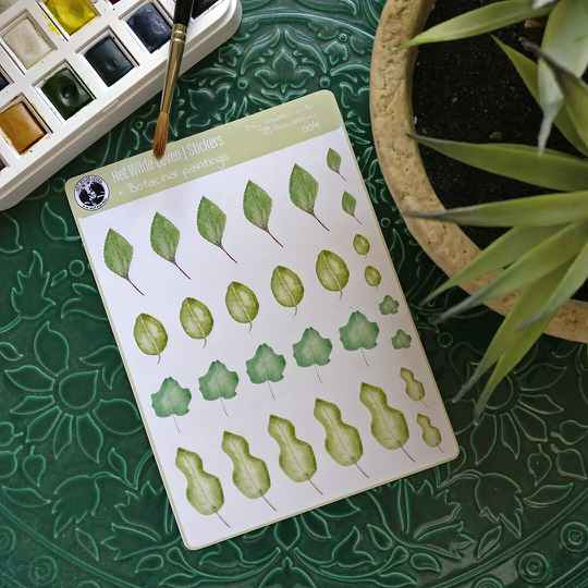 Stickers: botanical watercolor paintings 004
