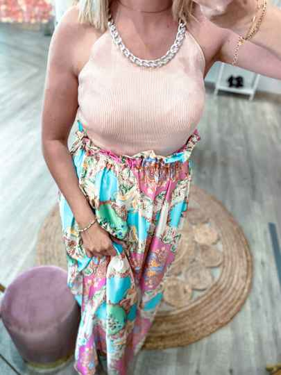 Top CHAIN PINK