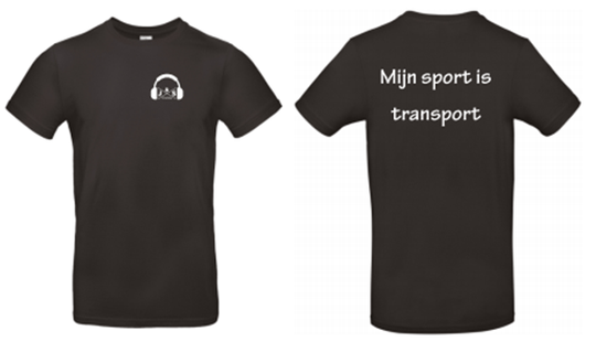 T-shirt Mijn sport is transport
