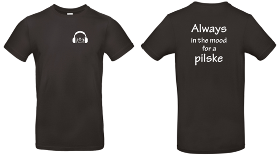 T-shirt Always in the mood for a pilsje