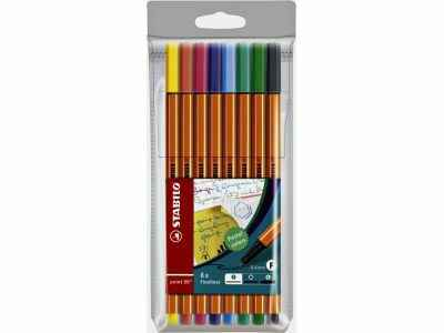 Stabilo Fineliner Point 88 8 stuks