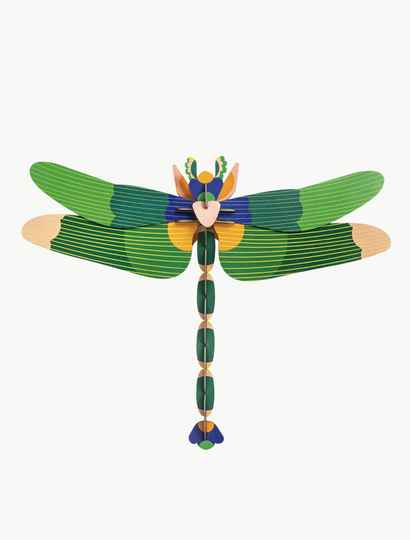 Studio ROOF - Green dragonfly - wall decoration