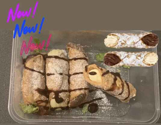 Mixed selection of Sicilian Cannoli