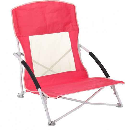Free and Easy campingstoel polyester rood 80 cm