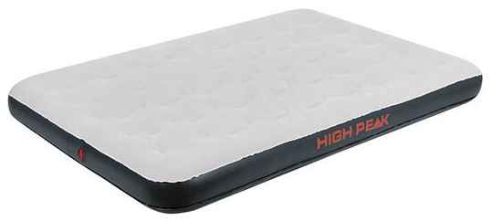 High Peak luchtbed 2-persoons 197 x 138 cm PVC grijs