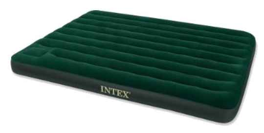 Intex luchtbed met voetpomp Downy 2-persoons 203 x 152 x 22 cm