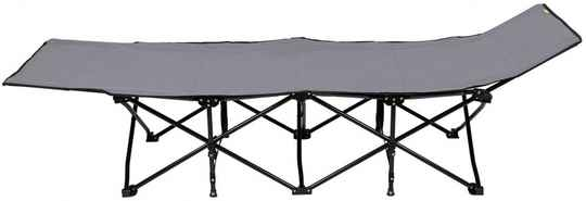 Abbey Camp campingbed opvouwbaar 200 x 70 x 45 cm antraciet