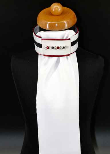 Plastron Crystal Fabric black Onyx bordeaux black