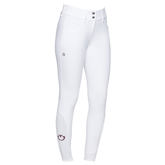 Cavalleria Toscana Womens Full Grip Dressage Breeches White