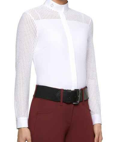 Competition Shirt Cavalleria Toscana Transparent Grid Jersey