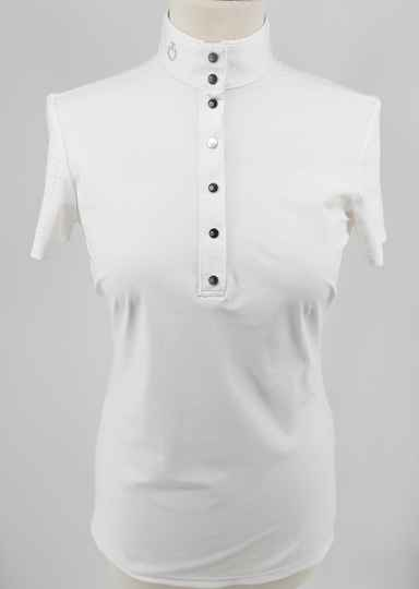 Cavalleria Toscane Perforated Competition Polo W/Piping Short Sleeve